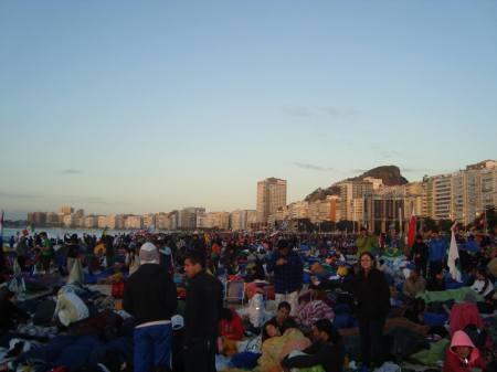 JMJ:  praia de Copacabana
