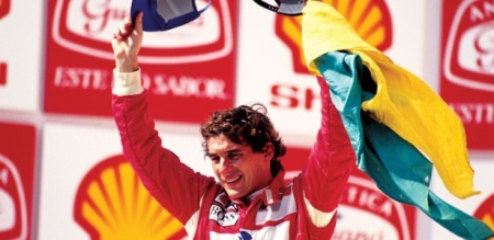 Senna no pódio